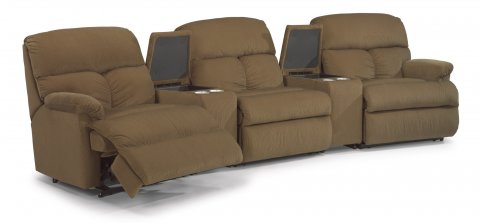 Triton Reclining Sectional 7098-SECT with 57, 70, 59, 70, & 58 pieces in 421-80