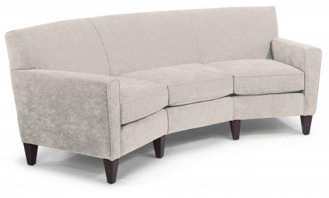 Mathis Leather Conversation Sofa C3966-323