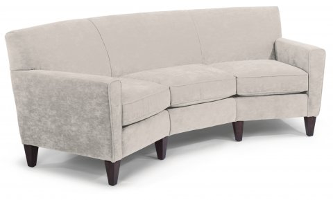 Mathis Leather Conversation Sofa C3966-323