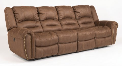 New Town Fabric Reclining Sectional 1410-SECT shown with 654 & 664 pieces in 136-70