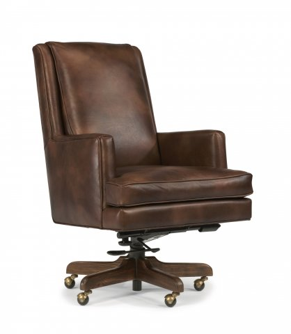 Home Office Desk Chairs | Flexsteel Leather Office Chair