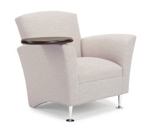 Upholstered armchair flexsteel tablet chair with rotating arm - Upholstered chairs for small spaces concept ...