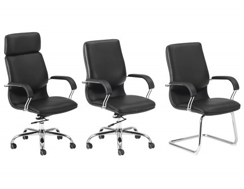Lotus High Back Desk Chair 6060-80, Lotus Mid Back Desk Chair 6060-81, and Lotus Guest Chair 6060-82