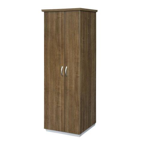 Pimlico Left Hand Facing Bookcase Wardrobe with Laminate Doors 7027-08LHL