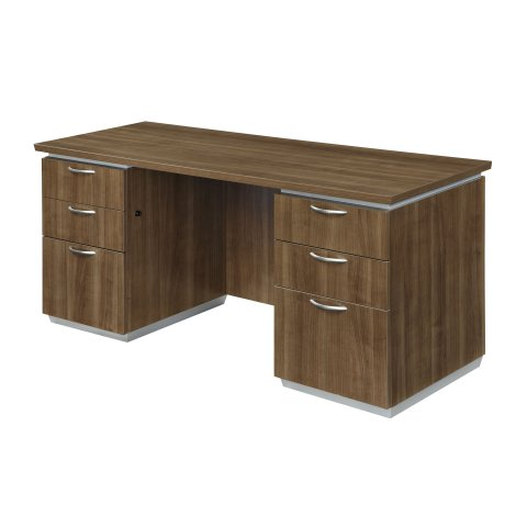 Pimlico Kneehole Credenza with Flat Ends 7027-215