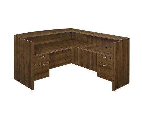 Fairplex Right/Left Reception L Desk with 3/4 Peds 7007-6667Q