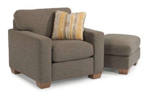 Kennicot Chair 5707-10 & Ottoman 5707-08 in 118-72