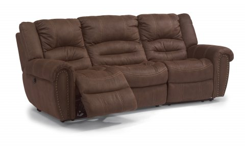 New Town Fabric Power Reclining Sectional 1410-SECTP shown with 57P, 222, & 58P pieces in 136-70