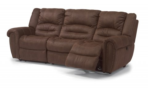 New Town Fabric Reclining Sectional 1410-SECT shown with 57, 222, & 58 pieces in 136-70
