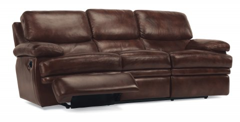 Dylan. Leather Reclining Sofa Without Chaise Footrests