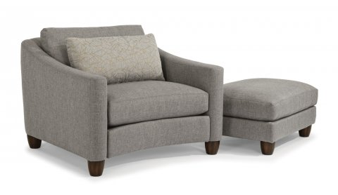 Sasha Chair and a Half 7940-101 and Cocktail Ottoman 7940-09 in 419-02