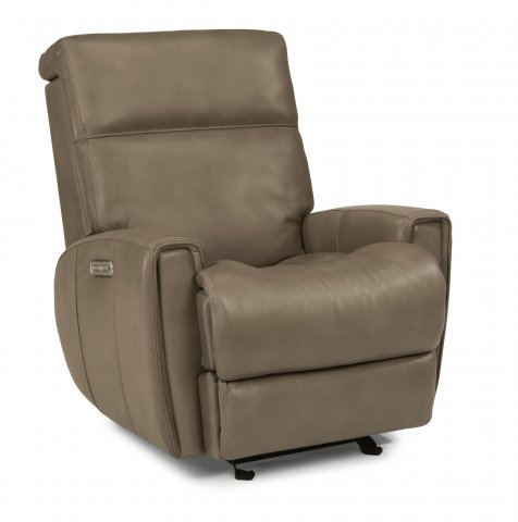 Lyric Leather Power Gliding Recliner with Power Headrest 1214-54PH in 418-08