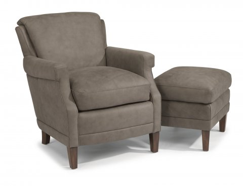 Max Leather Chair 1282-10 & Ottoman 1282-08 in 441-01