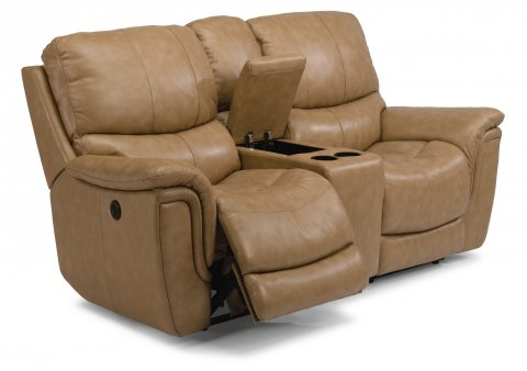 Leather Power Reclining Loveseat with Console  sc 1 st  Flexsteel & Reclining Chairs u0026 Sofas | Reclining Furniture from Flexsteel islam-shia.org
