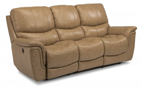 Coco Leather Power Reclining Sofa 1851-62P in 485-72