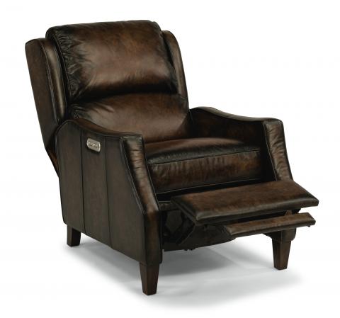 Leather Power High-Leg Recliner with Power Headrest  sc 1 st  Flexsteel & Reclining Chairs u0026 Sofas | Reclining Furniture from Flexsteel islam-shia.org