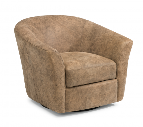 Carly Leather Swivel Chair 1211-11 in 443-54