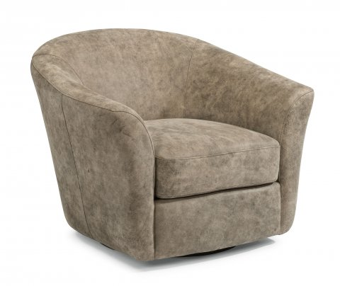 Carly Leather Swivel Chair 1211-11 in 443-92