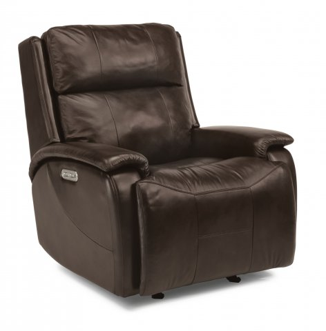 Wheaton Leather Power Gliding Recliner with Power Headrest 1200-54PH in 014-71