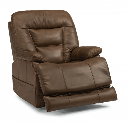Leather Power Recliner with Power Headrest  sc 1 st  Flexsteel : leather power recliner chair - islam-shia.org