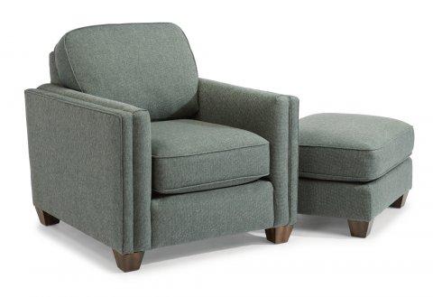 Hyacinth Chair 5726-10 & Ottoman 5726-08 in 143-32
