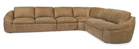 Echo Leather Sectional 1199-SECT shown with -27, -19, -23, & -28 pieces in 446-80
