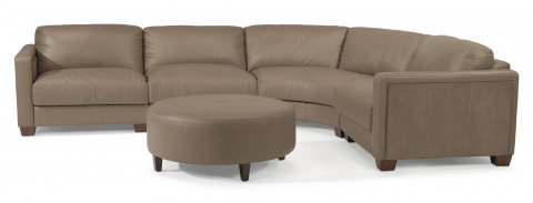 Wyman Leather Sectional 1337-SECT shown with -17, -19, -23, -18, & -094 pieces in 450-84