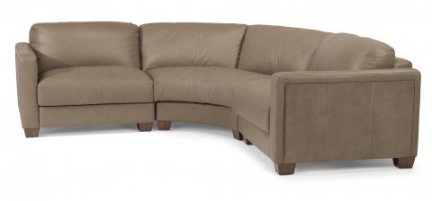Wyman Leather Sectional 1337-SECT shown with -17, -23, & -18 pieces in 450-84