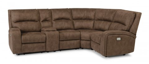 Rhapsody Fabric Power Reclining Sectional with Power Headrests 1150-SECTPH shown with 57PH, -72,-19, -23, -58PH pieces in 136-72