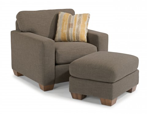 Kennicot Chair 5707-10 & Ottoman 5707-08 in 118-72