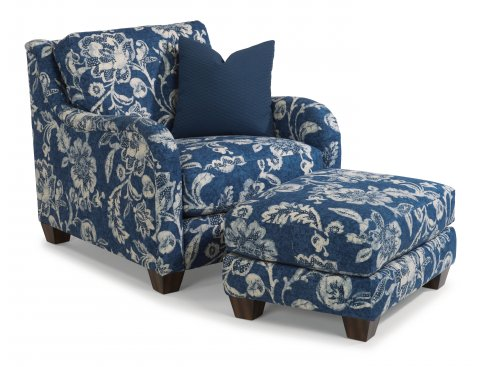 Fortuna Chair 7908-10 & Ottoman 7908-08 in 066-40