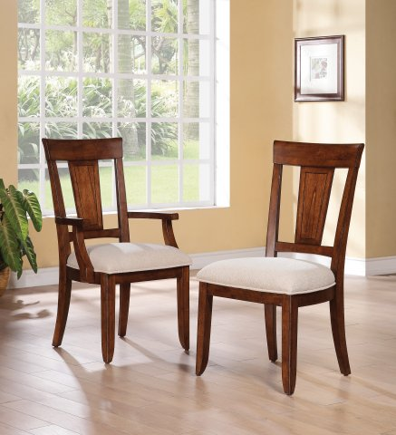 River Valley Arm Dining Chair W1572-841 & Dining Chair W1572-840
