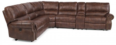 Carlton Fabric Power Reclining Sectional 1672-SECTP shown with 57P, 19, 23, 59P, 72, & 58P pieces in 220-72
