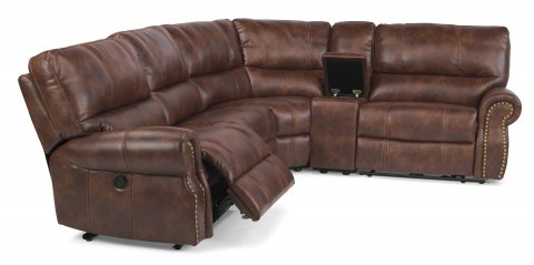 Carlton Fabric Power Reclining Sectional 1672-SECTP shown with 57P, 59P, 23, 72, & 58P pieces in 220-72