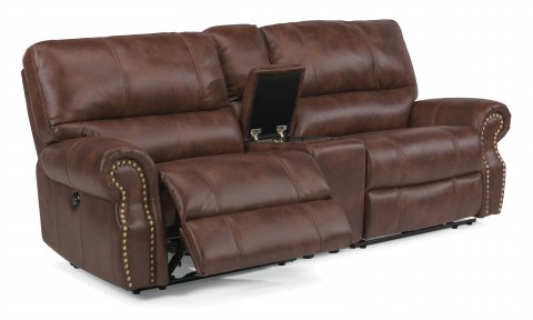 Carlton Fabric Power Reclining Sectional 1672-SECTP shown with 57P, 72, & 58P pieces in 220-72