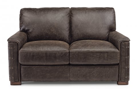 Attractive Leather Loveseat