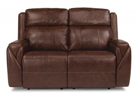 Leather Power Reclining Loveseat with Power Headrests  sc 1 st  Flexsteel : flexsteel bryant sectional - Sectionals, Sofas & Couches