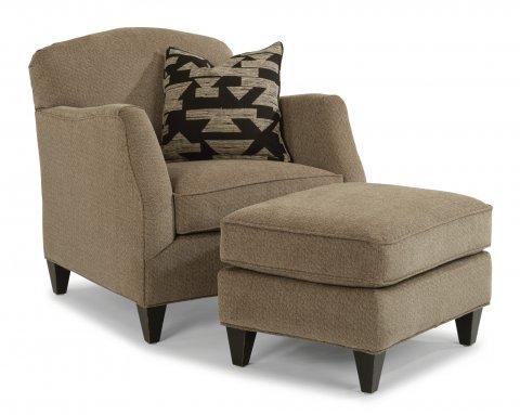 Jasmine Chair 5360-10 & Ottoman 5360-08 in 553-70