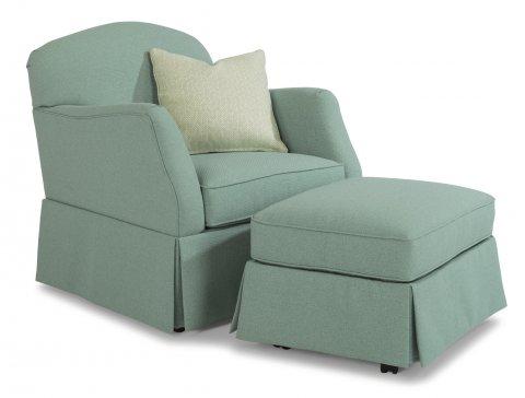 Pearl Chair 5460-10 & Ottoman 5460-08 in 559-42