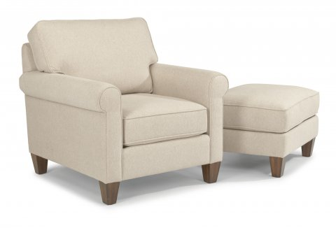 Calvin Chair 5721-10 & Ottoman 5721-08 in 593-11