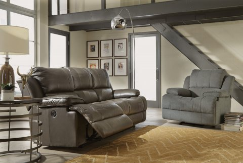Simon Fabric Power Gliding Recliner Lifestyle