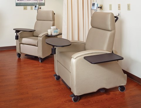 Arcadia Mobile Recliner A1382-TREC, Shown with Optional Trays