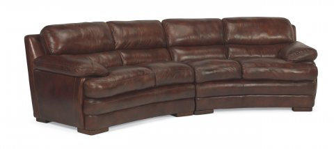 Dylan Leather Conversation Sofa 1127-325 | 1127-326 in 908-72