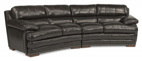 Dylan Leather Conversation Sofa 1627-325 | 1627-326 in 908-01