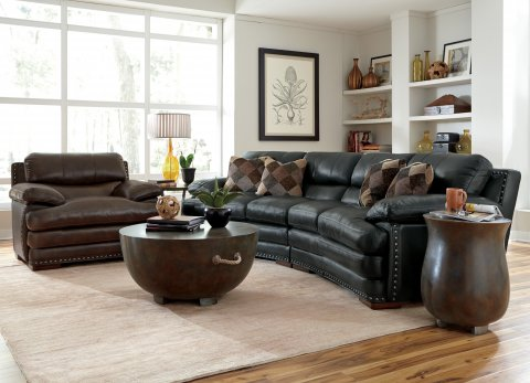 Dylan Leather Conversation Sofa Lifestyle