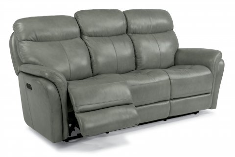 Zoey Leather Power Reclining Sofa with Power Headrests 1653-62PH in 360-01