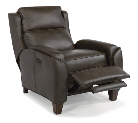 leather power high leg recliner with power headrest. Interior Design Ideas. Home Design Ideas