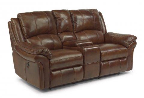 Dandridge Love Seat with Console 1351-604P in 794-76