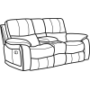 Woodstock Fabric Power Reclining Loveseat with Console 1298-604P