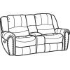 Downtown Fabric Gliding Reclining Loveseat with Console 1710-604